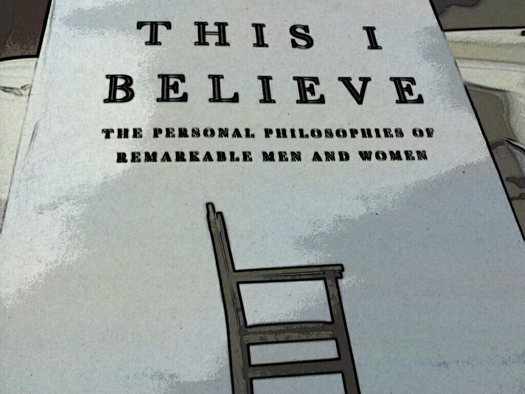 essays in this i believe book