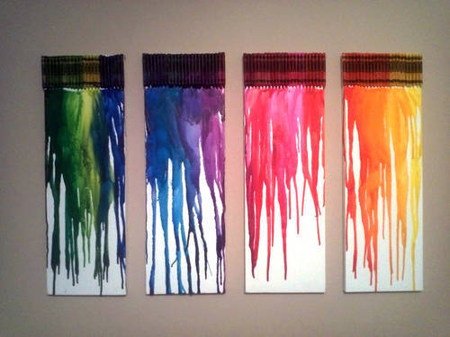 color display melted crayon canvases mr anthony 39 s dp